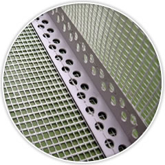 This is a PVC corner bead with fiberglass mesh which processed with the multihole bead and the fiberglass mesh.